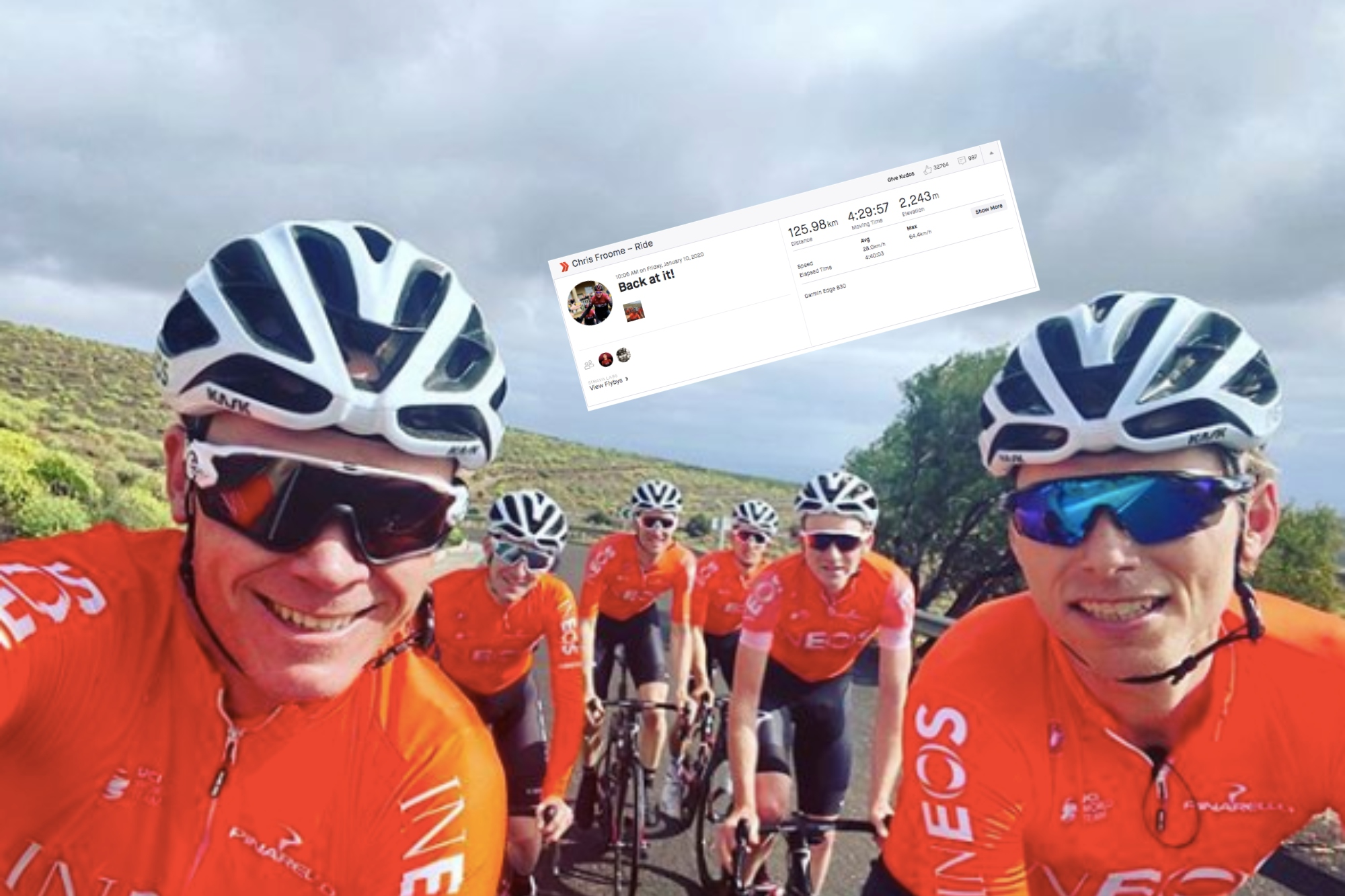 Chris Froome is back on Strava and is posting some monster training rides