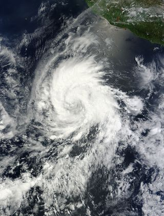 Tropical Storm Emilia seen by satellite