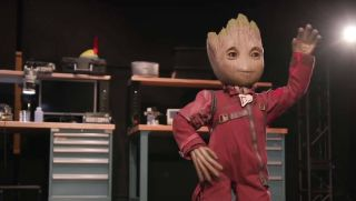 Disney imagineers have developed a Baby Groot robot to walk around the Disney parks.