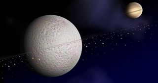 Saturn's Moon Might Have Rings, Too
