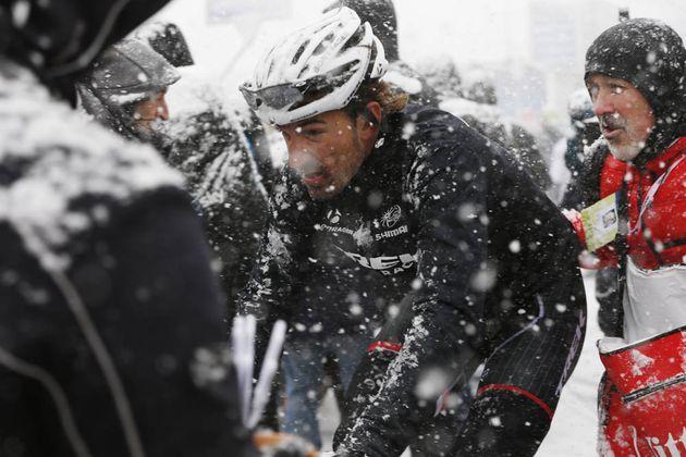 Photo: Fabian Cancellara on stage five of the 2015 Tirreno-Adriatico (Watson) .