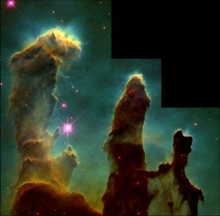 Hubble Visible-light View of the Pillars of Creation
