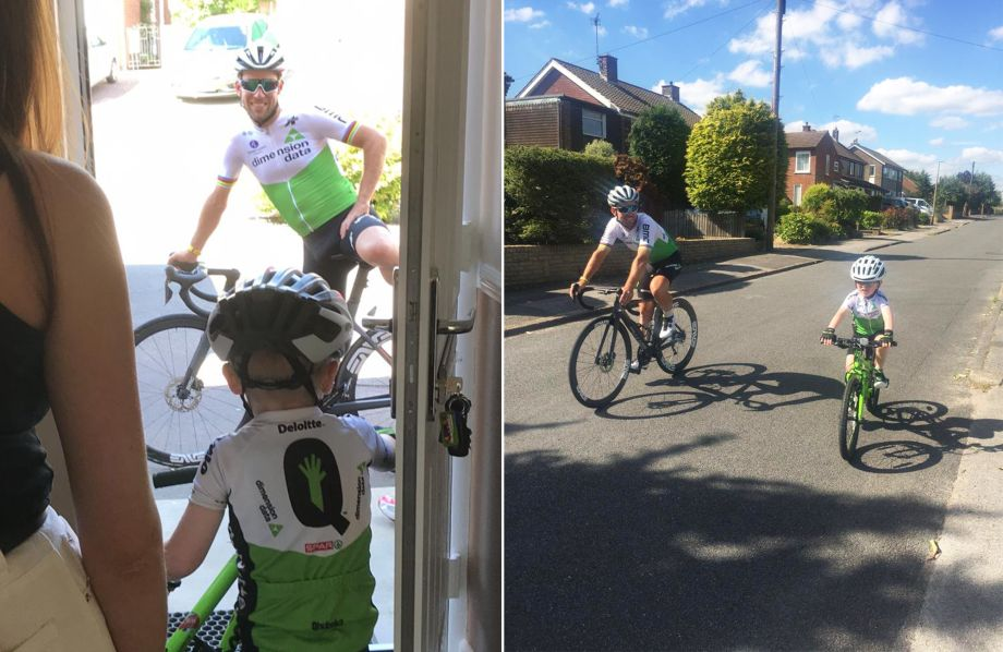 Mark Cavendish goes for ride with young fan 'to cheer us both up' after Tour de France omission