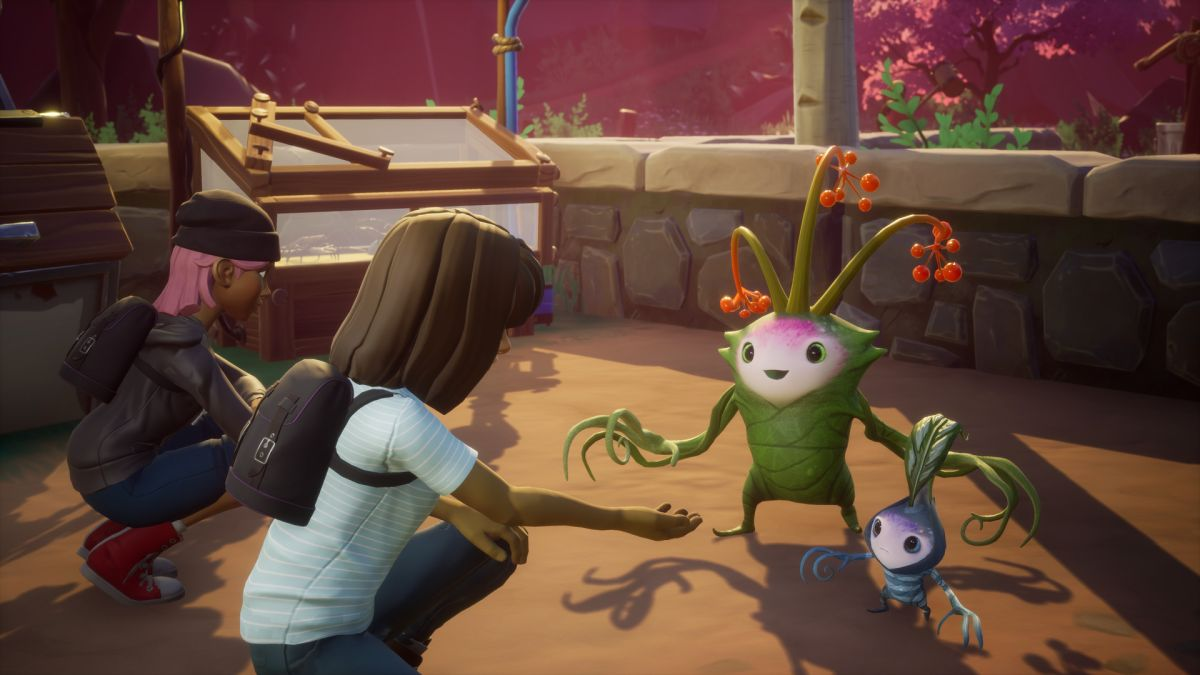 Here's goat arms dealers and cute vegetable people from action village-builder Drake Hollow
