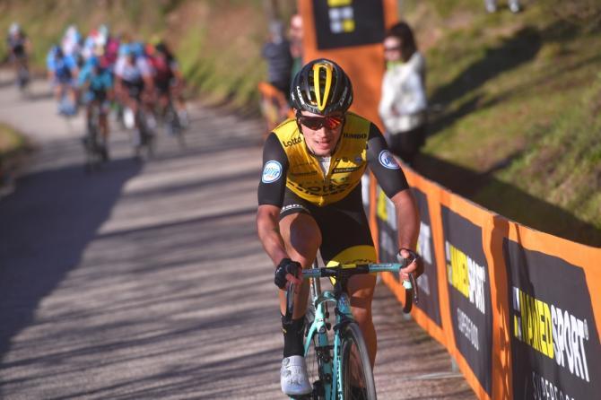 Primoz Roglic (LottoNl-Jumbo) attacks on the final climb