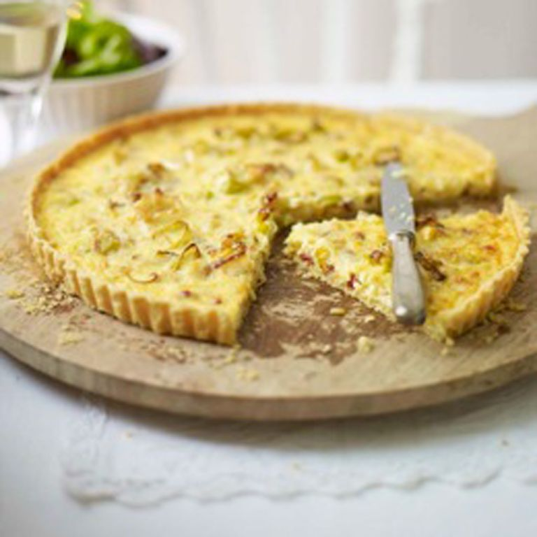 Gruyere Bacon and Leek Tart recipe-Tart recipes-recipe ideas-new recipes-woman and home