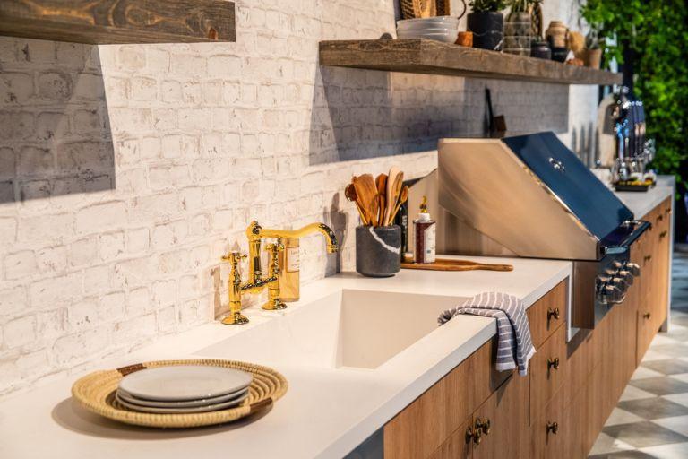 outdoor kitchen countertop ideas from Caesarstone