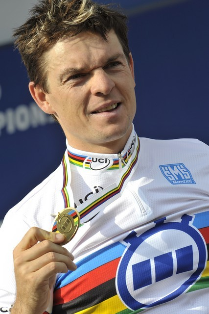Bert Grabsch men's time trial world champion. Varese 2008