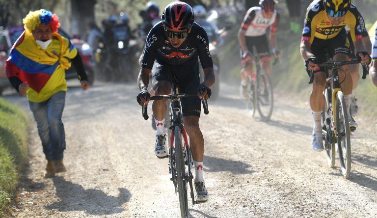 Egan Bernal at the 2021 Strade Bianche