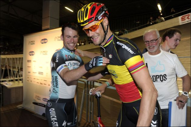 Tom Boonen and Mark Cavendish, Omega Pharma-QuickStep 2013 launch