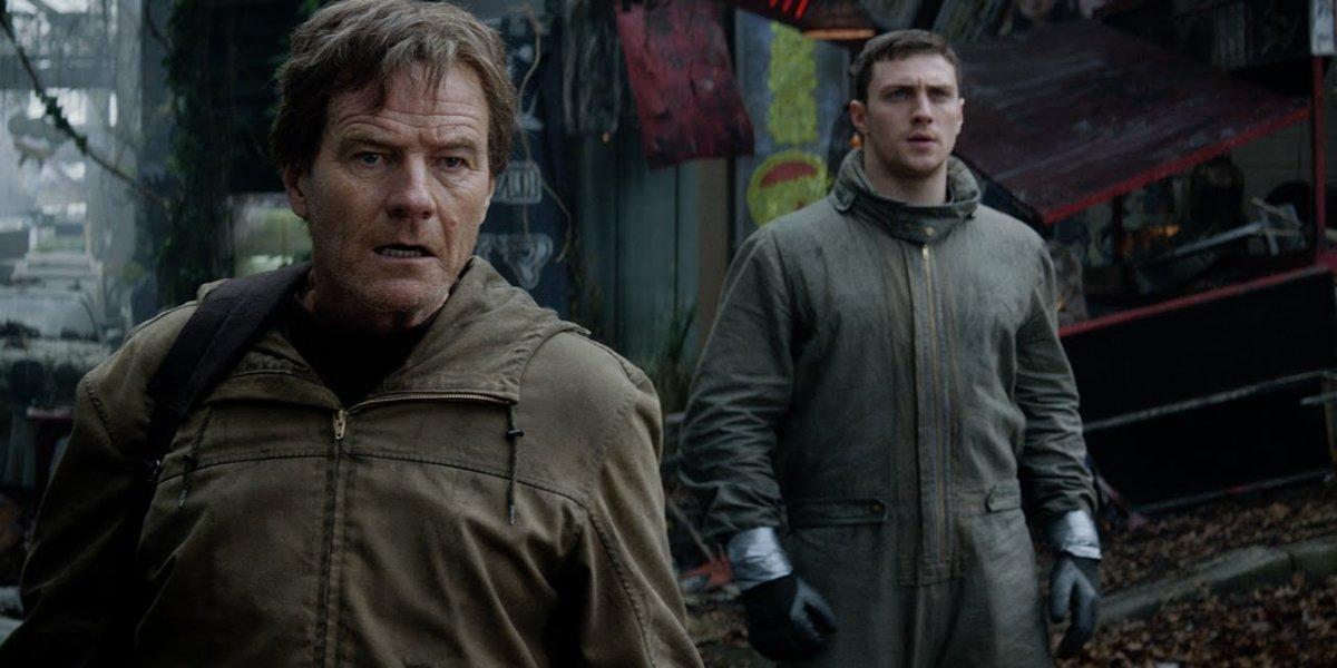 Bryan Cranston and Aaron Taylor-Johnson in Godzilla