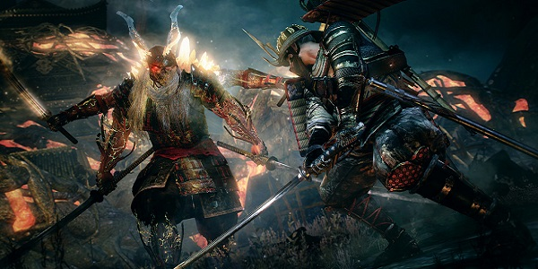 William battles an oni in Nioh