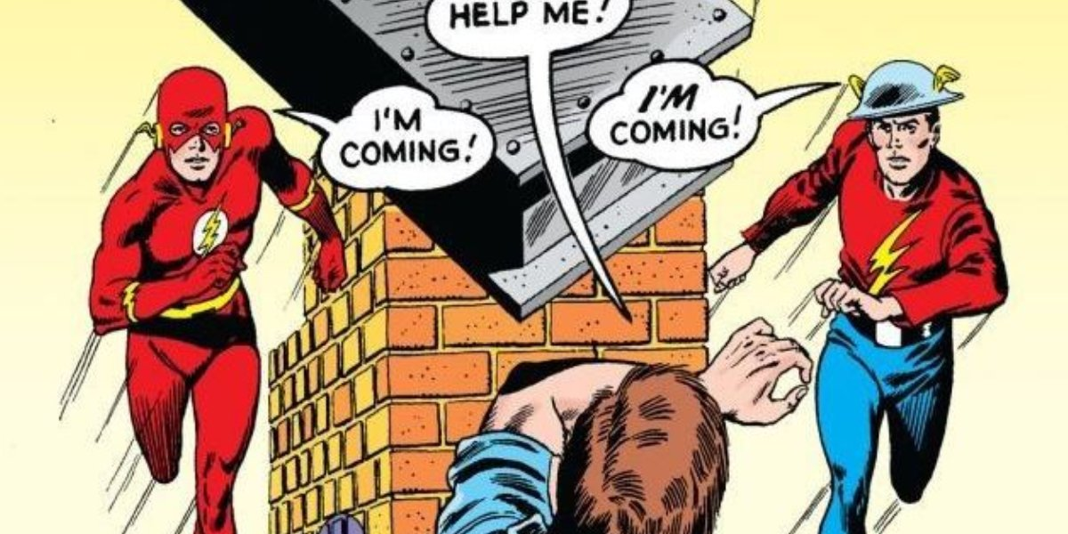 """Barry Allen and Jay Garrick in """"Flash of Two Worlds"""""""