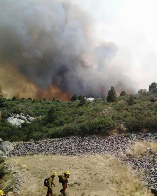 The Yarnell Hill wildfire was started by a lightning strike