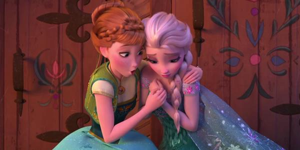 Anna and Elsa in Frozen Fever screenshot