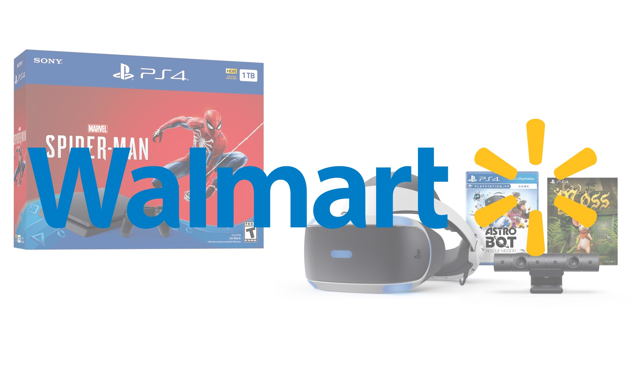 Walmart's Black Friday deals include a Spider-Man PS4 bundle and