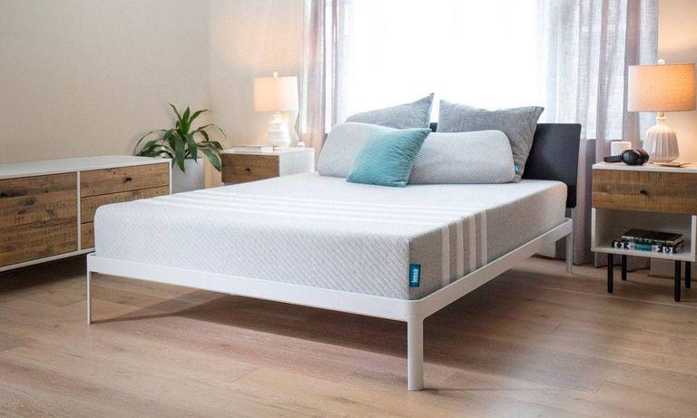 Leesa mattress discount code: Leesa mattress on bed in bedroom