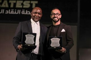Pitso Mosimane and Mohamed Afsha Magdy