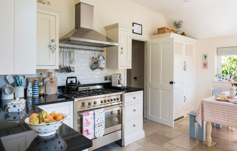 fitted kitchen in a 17th century cottage