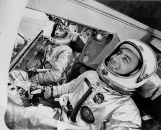 John Young and Gus Grissom in Gemini 3