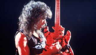 Eddie Van Halen performs with Van Halen at the Aragon Ballroom in Chicago on March 4, 1978