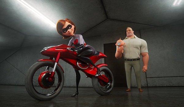 Elastigirl on motorcycle in Incredibles 2