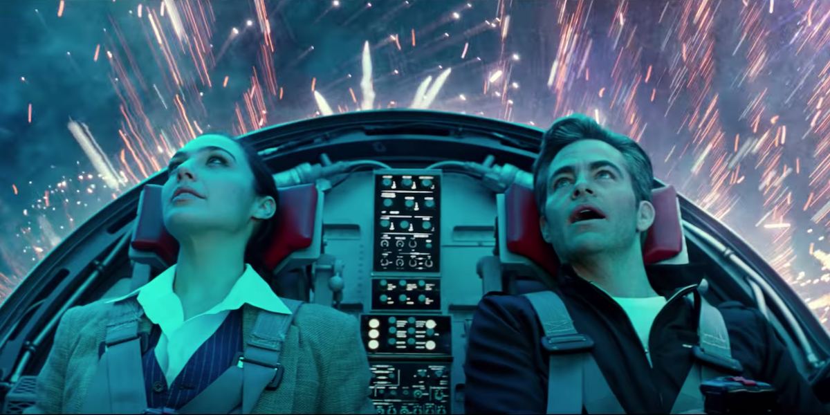 Gal Gadot and Chris Pine in