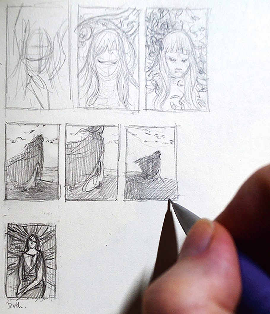 Sketches of thumbnails