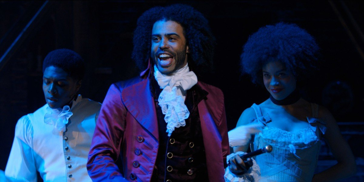 Daveed Diggs as Thomas Jefferson in the live stage film Hamilton