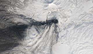 karymsky volcano in russia
