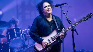 Robert Smith of The Cure performs at Glastonbury Festival 2019
