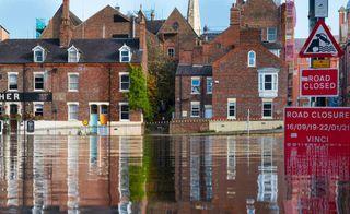 Basement in a flood zone