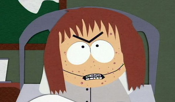 The angry sister, Shelly Marsh, on South Park