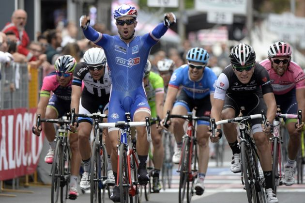 Nacer Bouhanni wins stage seven of the 2014 Giro d'Italia