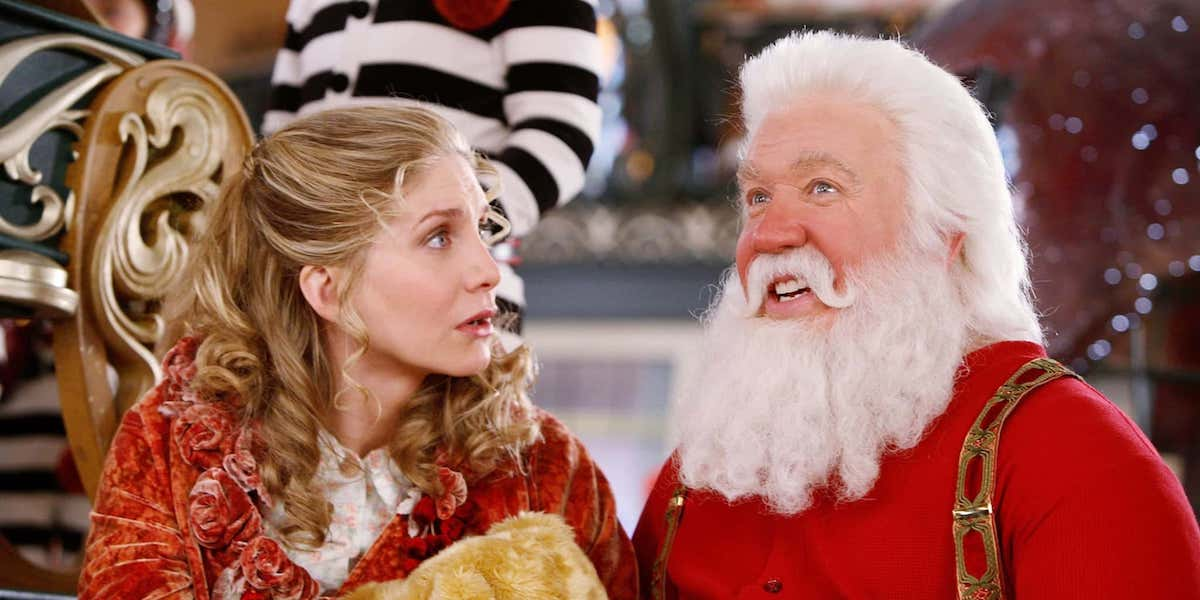 Carol Newman (Elizabeth Mitchell) looks at Santa Clause (Tim Allen) in 'The Santa Clause 2'