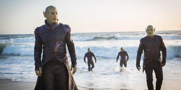 The skrulls in Captain Marvel Blu-ray release