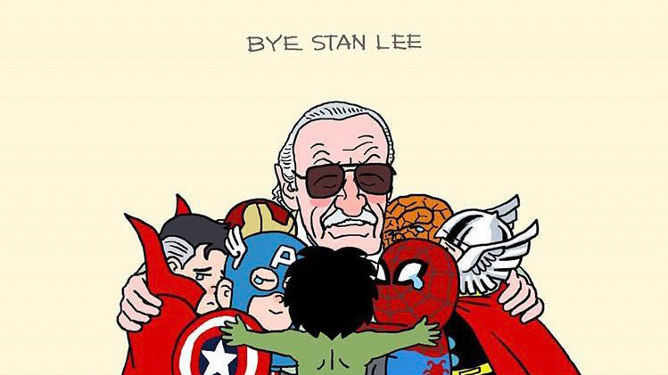 Artists pay tribute to Marvel legend Stan Lee