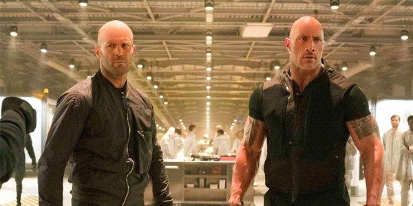 Hobbs and Shaw Jason Statham and Dwayne Johnson