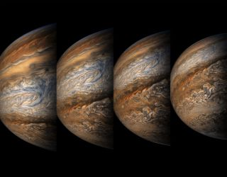Juno View of Jupiter on 8th Flyby