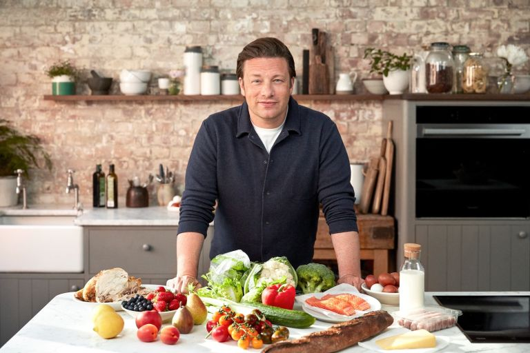 Jamie Oliver in a kitchen: he talks porridge