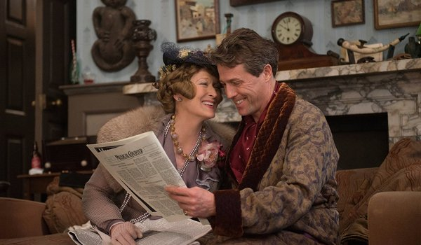 Florence Foster Jenkins Meryl Streep Hugh Grant reading the newspaper together