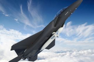 Modified F-15 fighter jet small satellite launches