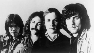 A studio shot of Crosby, Stills, Nash & Young