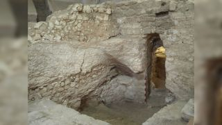 Archaeologists think this is the early first century house that was venerated as being the house that Jesus grew up in.