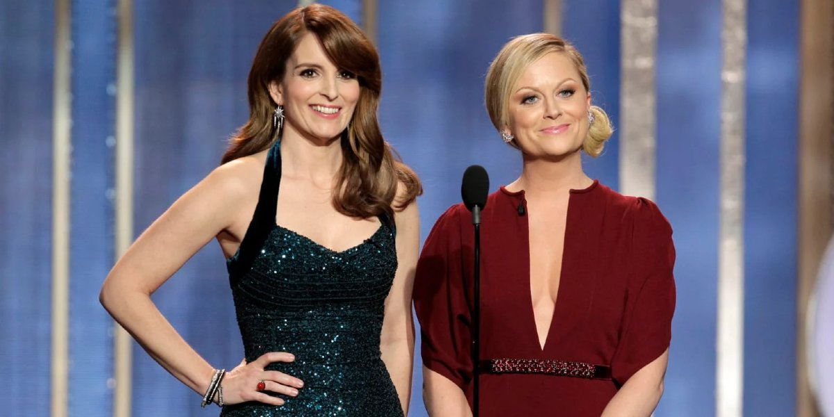 Tina Fey and Amy Poehler at the 2013 Golden Globe Awards