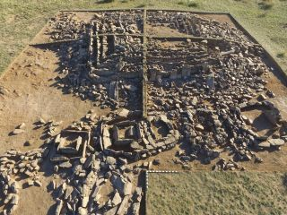 The ruins of a 3,000-year-old mausoleum were discovered in Kazakhstan. The mausoleum's burial chamber had been robbed.