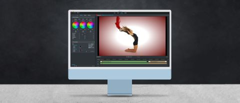 Lightworks review — a screenshot of Lightworks on an iMac