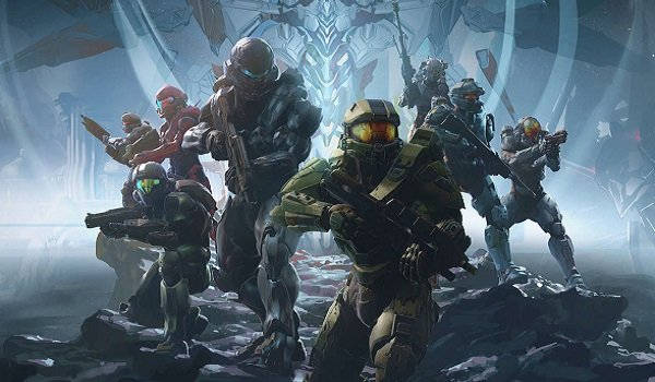 A squad of Halo characters