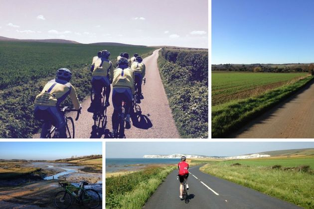 Isle of Wight views cycling
