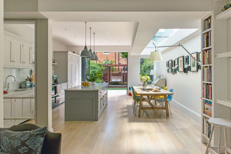 house renovation costs: the contemporary extension to Sarah and James Paul's London home